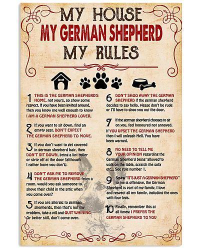 My German Shepherd My House My Rules