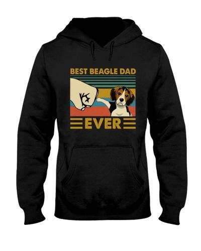 Retro Blue Beagle Dad Ever