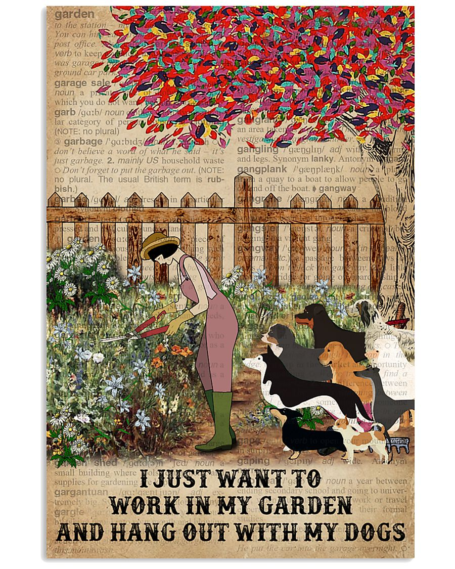 Dictionary Work In My Garden Dogs 11x17 Poster