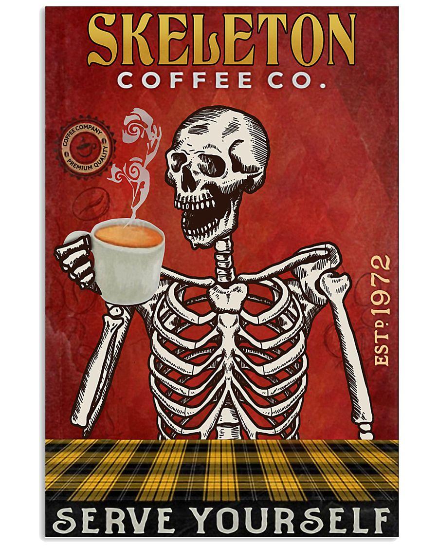 Skeleton Coffee Company 16x24 Poster