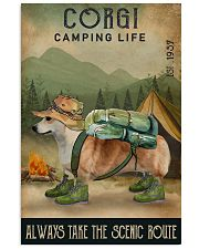 Camping Life Scenic Route Corgi 11x17 Poster front