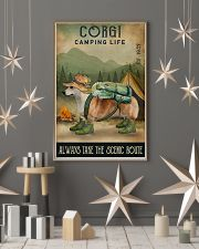 Camping Life Scenic Route Corgi 11x17 Poster lifestyle-holiday-poster-1