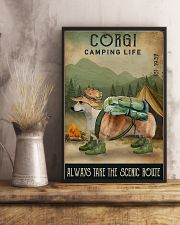 Camping Life Scenic Route Corgi 11x17 Poster lifestyle-poster-3