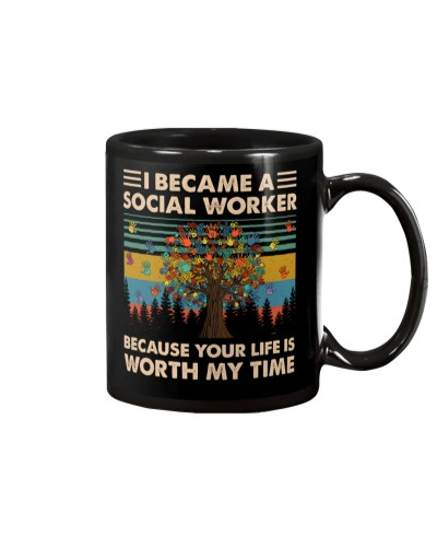 Retro Blue I Became A Social Worker