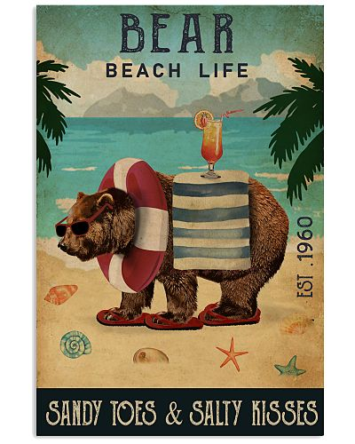 Vintage Beach Cocktail Life Bear
