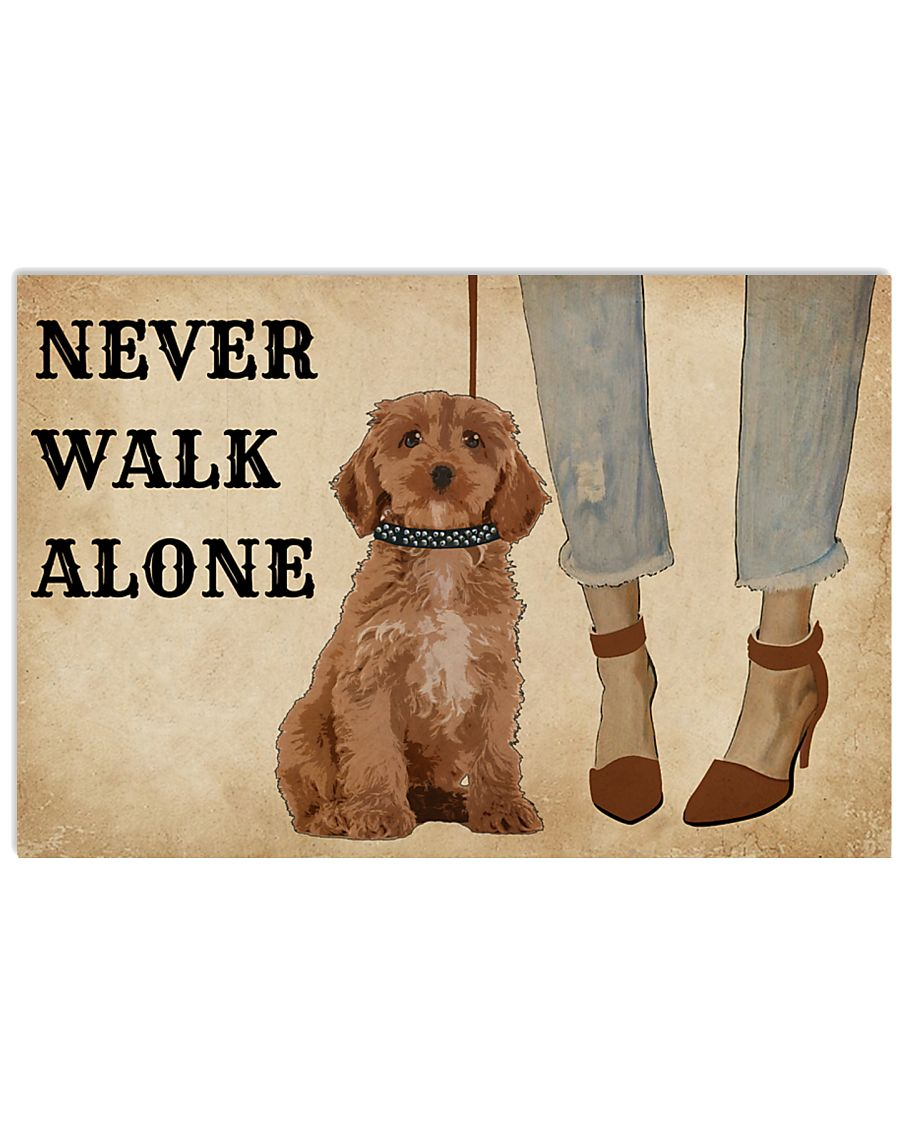 Heels Never Walk Alone Poodle 17x11 Poster