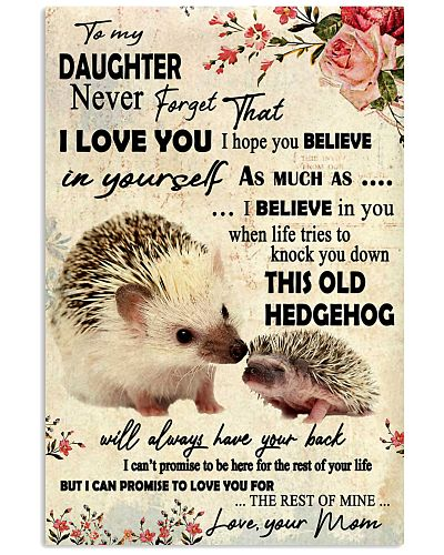 Never Forget That I Love You Hedgehog Mother