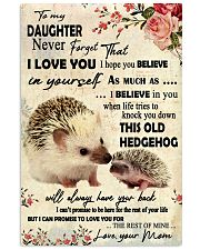 Never Forget That I Love You Hedgehog Mother 11x17 Poster front