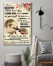 Never Forget That I Love You Hedgehog Mother 11x17 Poster lifestyle-poster-1