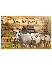 Charolais cattle Let The Gate Open 17x11 Poster front