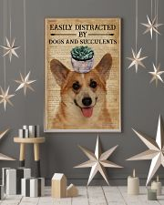 Dictionary Easily Distracted By Corgi and Garden 11x17 Poster lifestyle-holiday-poster-1