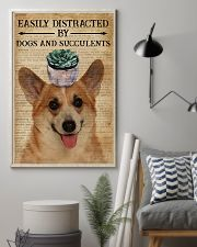 Dictionary Easily Distracted By Corgi and Garden 11x17 Poster lifestyle-poster-1