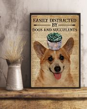 Dictionary Easily Distracted By Corgi and Garden 11x17 Poster lifestyle-poster-3