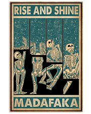 Retro Teal Rise And Shine Skeleton 11x17 Poster front