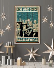 Retro Teal Rise And Shine Skeleton 11x17 Poster lifestyle-holiday-poster-1