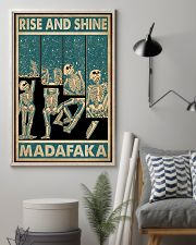 Retro Teal Rise And Shine Skeleton 11x17 Poster lifestyle-poster-1