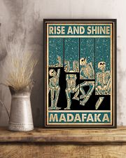Retro Teal Rise And Shine Skeleton 11x17 Poster lifestyle-poster-3