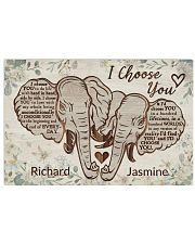 Personalized Elephant I Choose You 24x16 Poster front