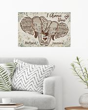 Personalized Elephant I Choose You 24x16 Poster poster-landscape-24x16-lifestyle-01