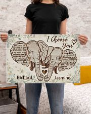 Personalized Elephant I Choose You 24x16 Poster poster-landscape-24x16-lifestyle-20