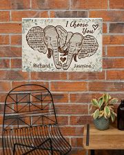 Personalized Elephant I Choose You 24x16 Poster poster-landscape-24x16-lifestyle-24
