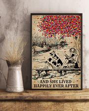 Dictionary Lived Happily Dogs And Books 11x17 Poster lifestyle-poster-3
