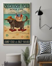 Beach Life Sandy Toes Scottish Fold 11x17 Poster lifestyle-poster-1