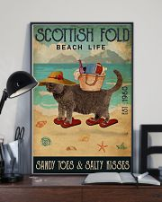 Beach Life Sandy Toes Scottish Fold 11x17 Poster lifestyle-poster-2