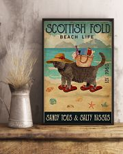Beach Life Sandy Toes Scottish Fold 11x17 Poster lifestyle-poster-3
