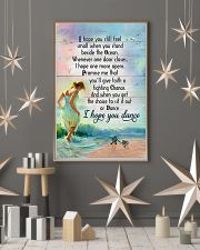 Sea Turtle Girl Beach I Hope You Small 11x17 Poster lifestyle-holiday-poster-1