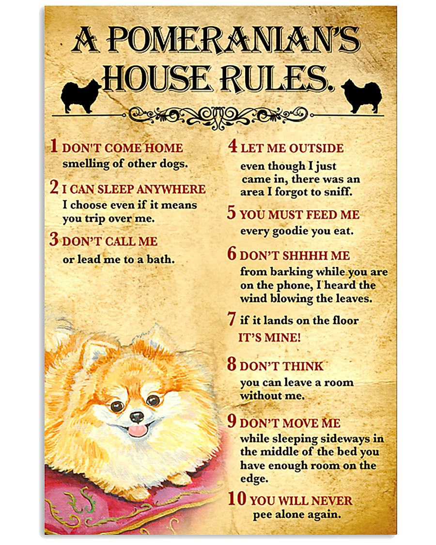 Pomeranian House Rules 11x17 Poster
