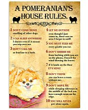 Pomeranian House Rules 11x17 Poster front
