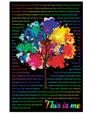 Vintage Lyrics This Is Me Colorful Tree Black 11x17 Poster front