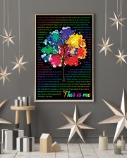 Vintage Lyrics This Is Me Colorful Tree Black 11x17 Poster lifestyle-holiday-poster-1