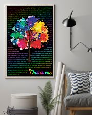 Vintage Lyrics This Is Me Colorful Tree Black 11x17 Poster lifestyle-poster-1