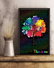 Vintage Lyrics This Is Me Colorful Tree Black 11x17 Poster lifestyle-poster-3