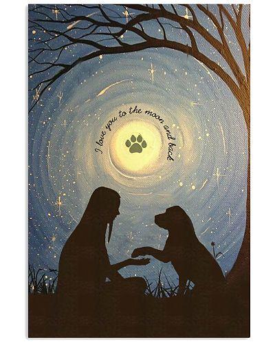 Love You To The Moon Hand Shake Labrador Retriever