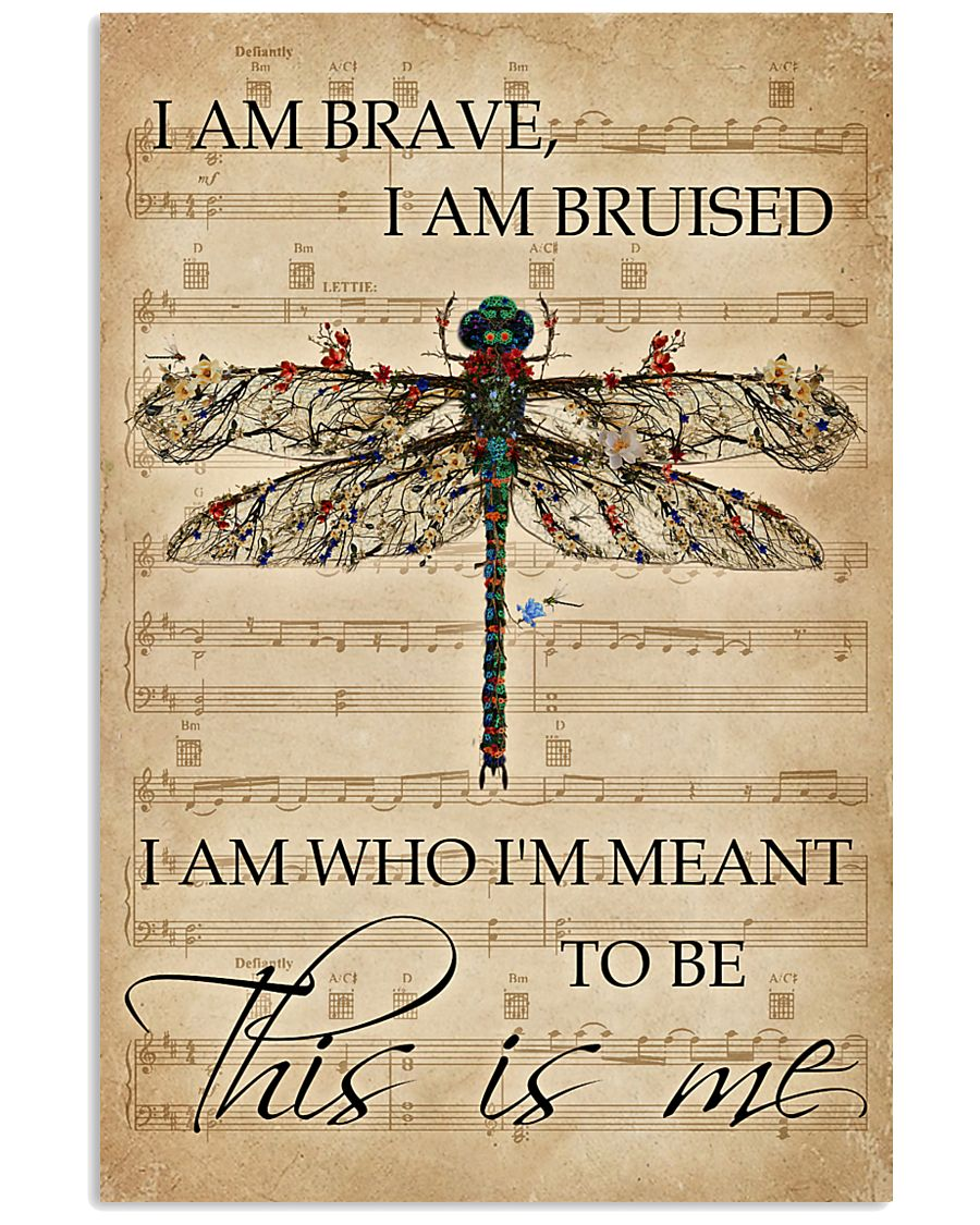 Music Sheet This Is Me Dragonfly 11x17 Poster
