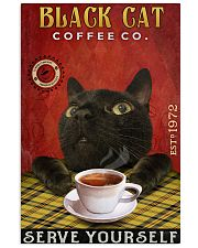 Lazy Coffee Company Black Cat 11x17 Poster front