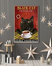 Lazy Coffee Company Black Cat 11x17 Poster lifestyle-holiday-poster-1