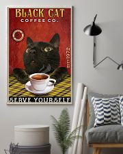 Lazy Coffee Company Black Cat 11x17 Poster lifestyle-poster-1