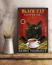 Lazy Coffee Company Black Cat 11x17 Poster lifestyle-poster-3