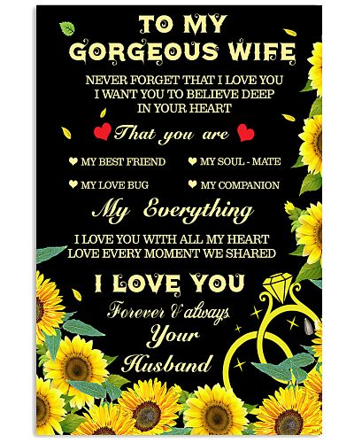 To My Gorgeous Wife My Everything Sunflower