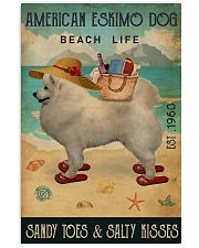Beach Life Sandy Toes American Eskimo Dog 11x17 Poster front