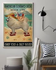 Beach Life Sandy Toes American Eskimo Dog 11x17 Poster lifestyle-poster-1