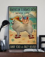 Beach Life Sandy Toes American Eskimo Dog 11x17 Poster lifestyle-poster-2
