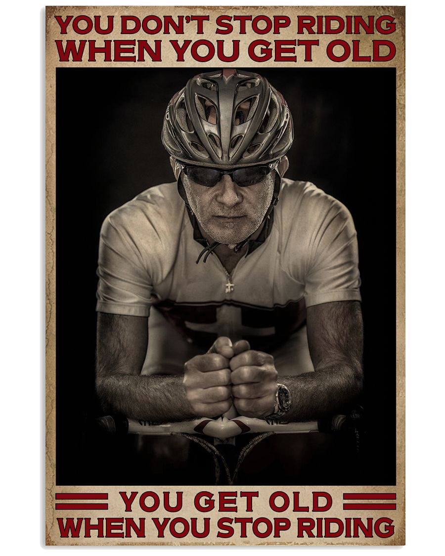 When You Stop Riding Cycling 16x24 Poster