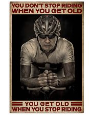 When You Stop Riding Cycling 16x24 Poster front