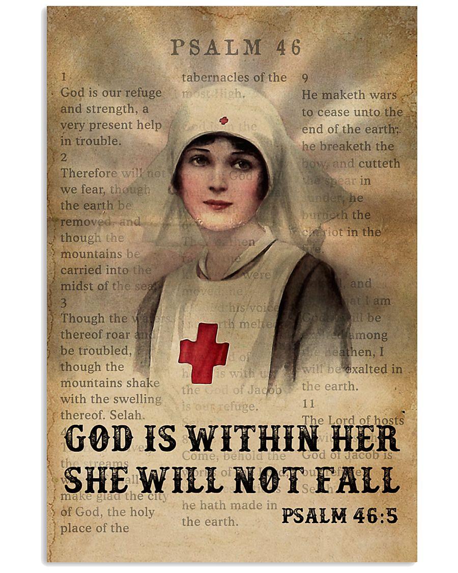 Bible Nurse She Will Not Fall 11x17 Poster