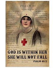 Bible Nurse She Will Not Fall 11x17 Poster front